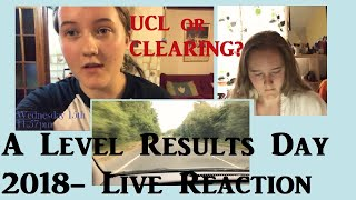 A Level Results Day 2018 Live Reaction- Clearing or UCL?