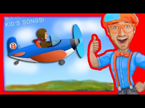 Blippi Airplanes for Kids Compilation  Nursery Rhyme Playlist