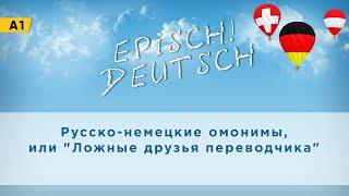 """Deutsch A1: Русско-немецкие омонимы или """"Ложные друзья переводчика"""""""
