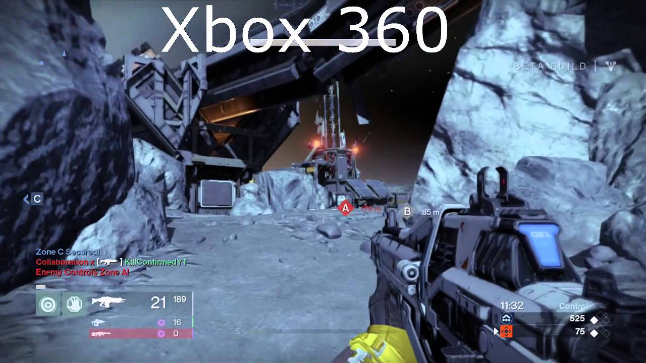 Destiny beta-Xbox 360 Vs Xbox One Graphics comparison ...