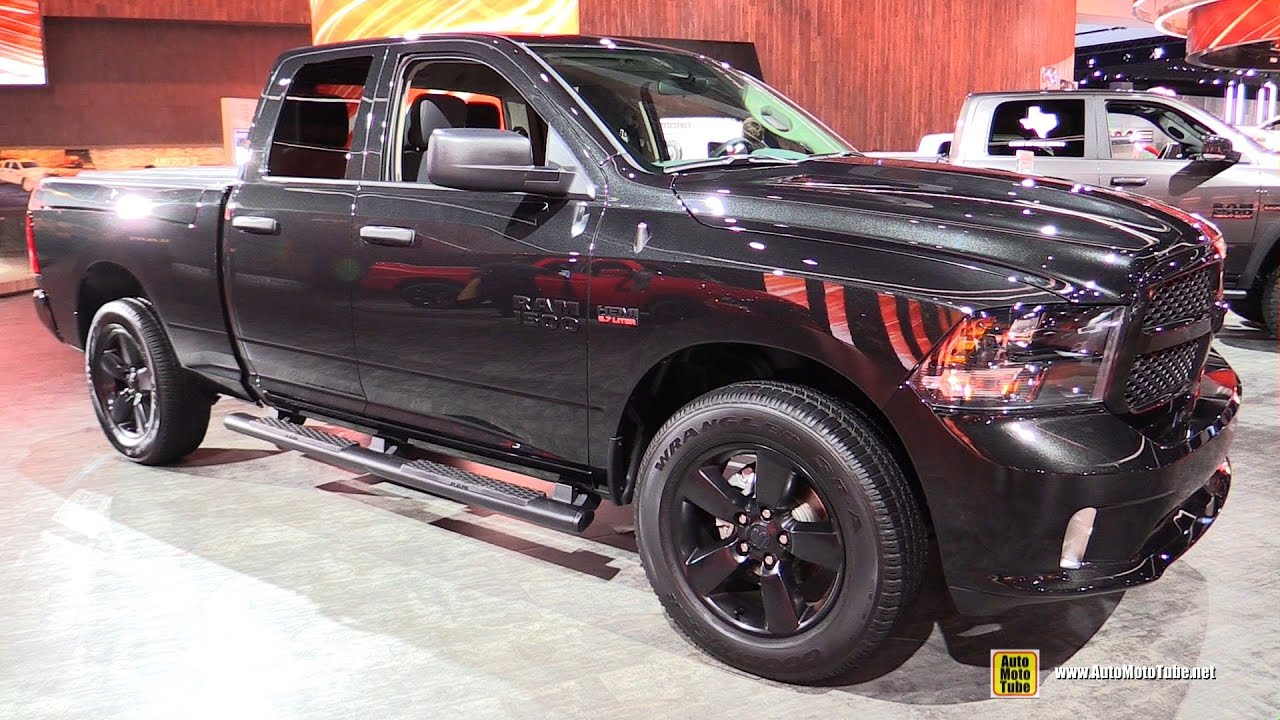 2017 Ram 1500 Black Express - Exterior and Interior Walkaround ...