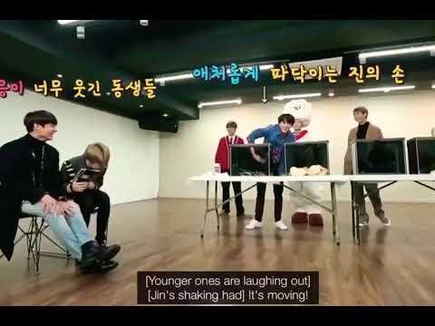 JIN Being Coward Is Damn Cute ! Moment: BTS RUN EP.43