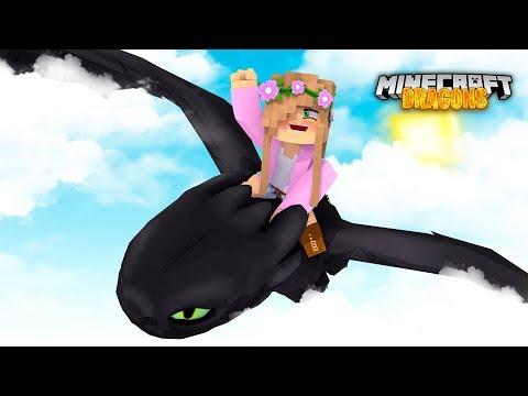 MY FIRST DRAGON ADVENTURE! * I Found A Nightfury! * | Minecraft Dragons | Little Kelly #1