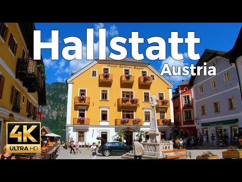 Hallstatt, Austria Walking Tour (4k Ultra HD 60fps)