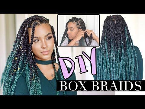 DIY Box Braids like a PRO! LOW TENSION TECHNIQUE