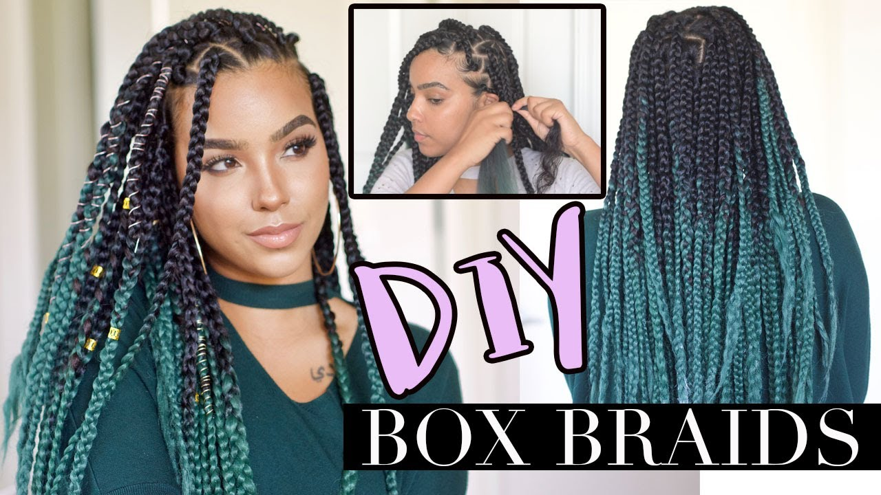 Diy Box Braids Like A Pro Low Tension Technique Youtube