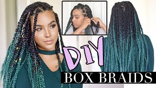 DIY Box Braids like a PRO! LOW TENSION TECHNIQUE