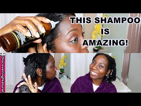 Best Shampoo For Natural Hair Growth And Alopecia | Kadima Black Soap Shampoo