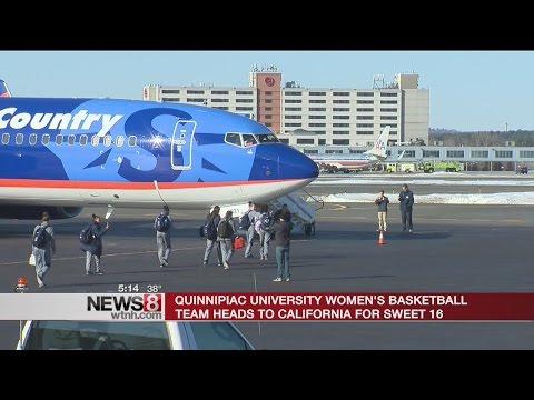 Quinnipiac's women's basketball team heads to California for 'Sweet 16'