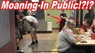MOANING IN PUBLIC?!?!    #Publicpranks