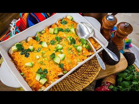 Serena Wolfs Loaded Chicken Enchiladas Home Family