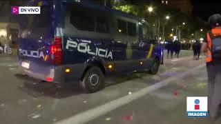 Estas son imágenes en vivo de las protestas en Cataluña | Noticias con Yuriria Sierra