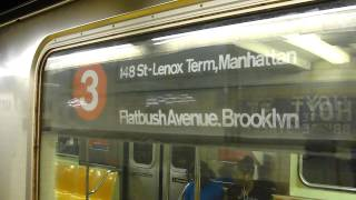 IRT Eastern Parkway Line: Brooklyn College-Flatbush Avenue bound R-62 3 train @ Hoyt St-Fulton Mall!
