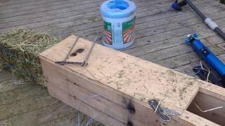 Homemade Mini Hay Baler