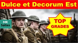 grade 9 analysis of dulce et decorum est by wilfred owen his most famous poem