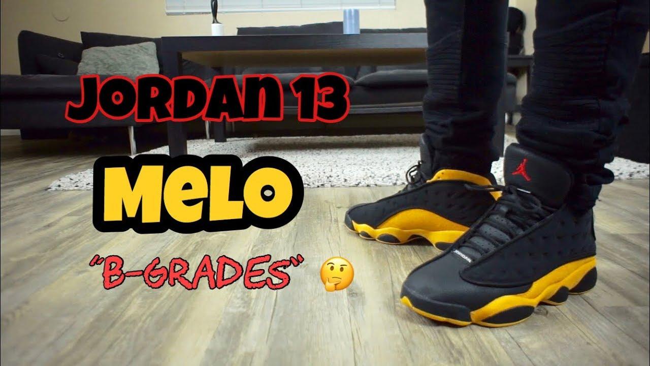 "Jordan 13 Melo ""B Grades"" - YouTube"