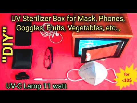 how-to-make-uv-sterilizer-box- -uv-sterilizer-for-mask- -uv-sterilizer-for-phone- -diy-community