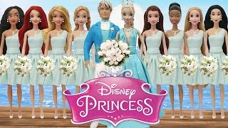 Play Doh  Wedding Elsa  \u0026Jack Frost, Disney Princesses as Bridesmaids Inspired Costumes