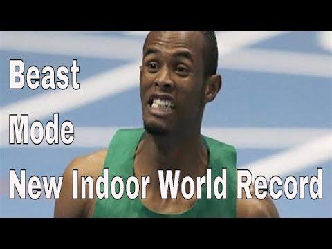Djibouti's Ayanleh Souleiman sets new 1000m world indoor record at Globen Galan 2016, Stockholm