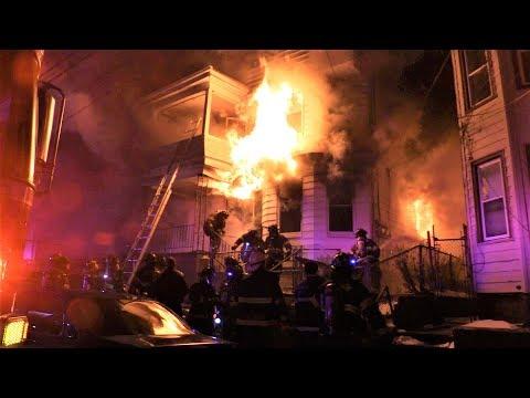Paterson NJ Fire Dept 2nd Alarm on Arrival 178 Fulton St 1-7-18