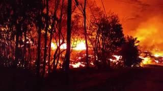 Hawaii Kilauea Volcano Eruption Lava Lake Lower Kahukai 5/22/2018 Part 2
