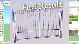 How To Make A Gate In Sketchup-part 1