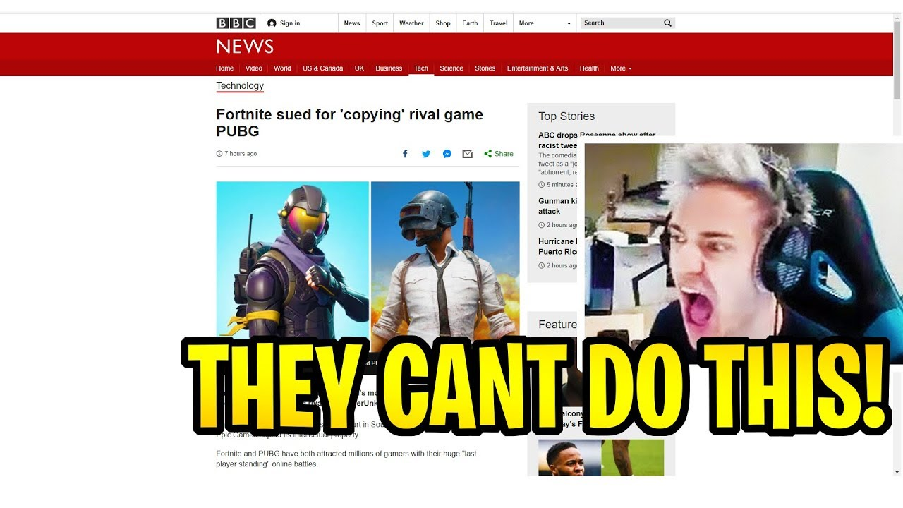 NINJA REACTS TO FORTNITE BEING SUED BY PUBG! FORTNITE ...