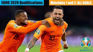 UEFA Euro 2020 Qualifications. Matchday 1 and 2. All Goals HD.