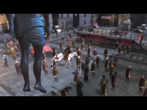 Ezio Kills Francesco de Pazzi and Hangs His Body for Observation (Assassin's Creed 2 | Florence)