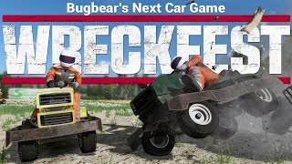 Next Car Game Wreckfest - Lawn Mower Demolition Derby! - Game Update Overview & Funny Moments
