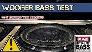 INSANE Bass Test !! Pioneer Woofer - Can You Survive the Bass ??? (5000 Hz)