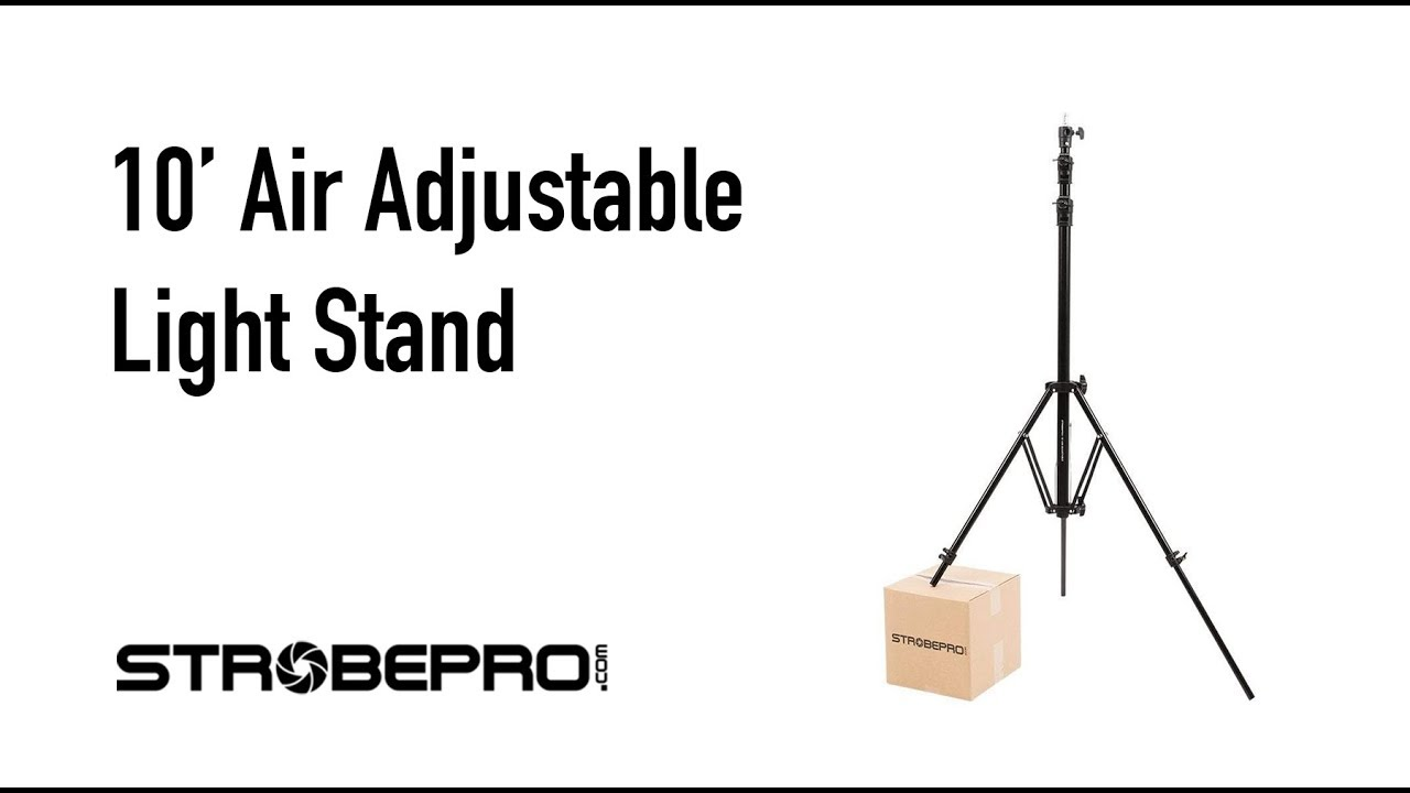 small resolution of strobepro 10 adjustable air light stand