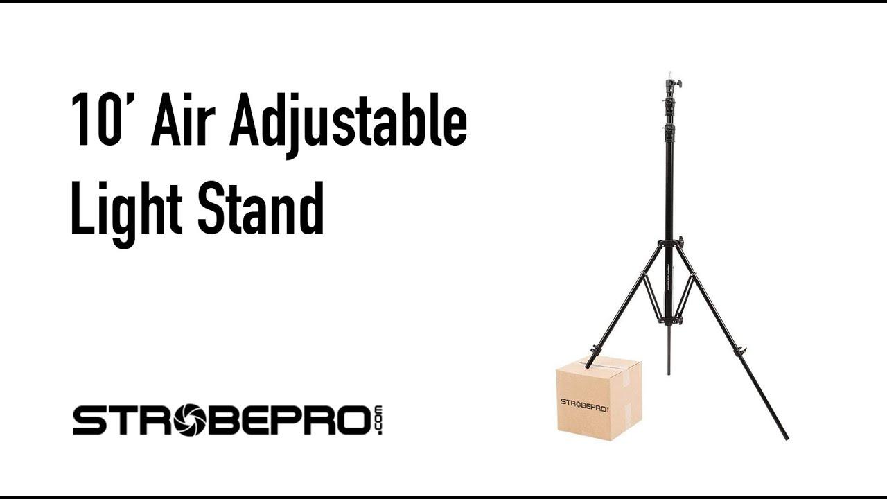 medium resolution of strobepro 10 adjustable air light stand