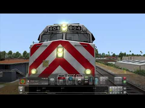 Train Simulator 2021 CalTrain F40PH-2CAT run from Millbrae to Hillsdale  