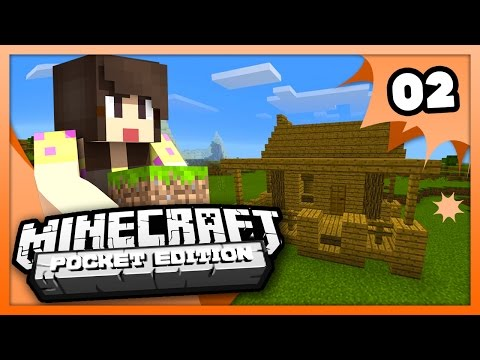 Minecraft PE (Pocket Edition) - OUR STARTER HOUSE! - Ep 2 -