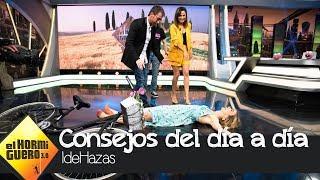 Marta Hazas y su 'IdeHazas': montar en bici con vestido y que no se te vea nada - El Hormiguero 3.0