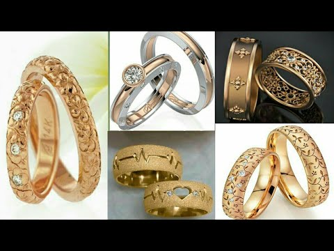 BEAUTIFUL GOLD & PLATINUM WEDDING / ENGAGEMENT RINGS DESIGN IDEAS 2019 ||  COUPLE RINGS
