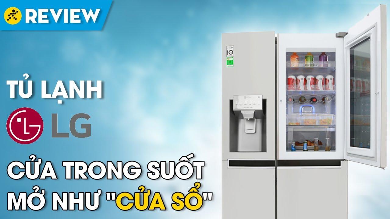 Tủ lạnh LG 601L: gõ 2 lần thấy bên trong, điều khiển bằng smartphone (GR-X247JS) • Điện máy XANH