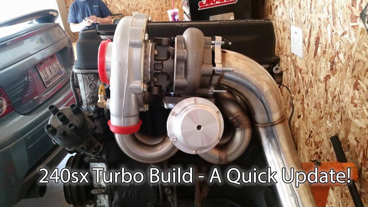 240sx Cx Racing Turbo Kit Quick Update Video - Turbo Mocked Up  J Tay187  04:55 HD