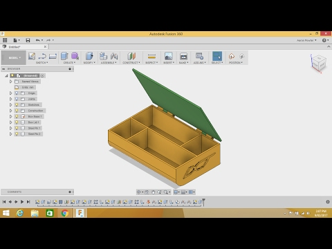 Fusion 360 Tutorial - WEB Feature, DXF import & STL export F
