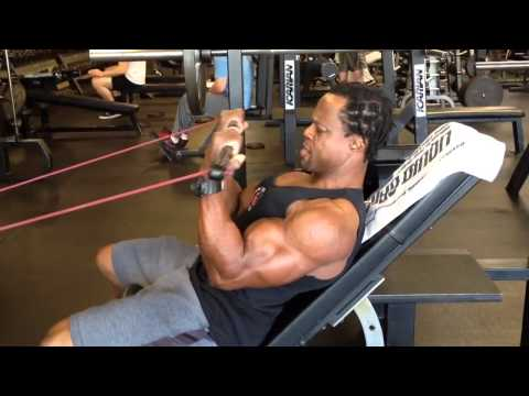 Resistance Band Incline Curls