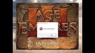 Falha na inicialização Age of Empires III