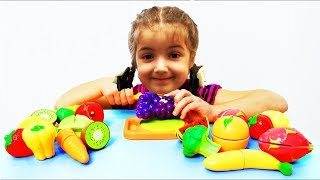 Play  of Vegetables and Fruits with Toys