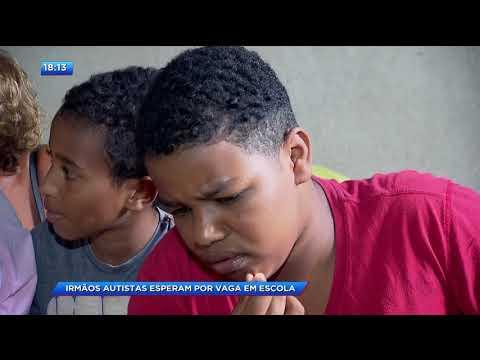 CA - Irmãos autistas esperam por vaga em escola - 29-01-2018