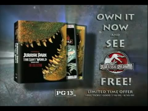 Jurassic Park III & The Collection Box Set Commercial (2001)