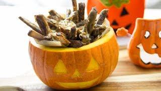Halloweenowe frytki poutine