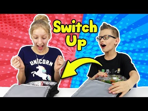 LUNCHBOX SWITCH UP CHALLENGE with Karina and Ronald!