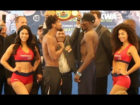 *WBO WORLD TITLE* - DEMETRIUS ANDRADE v WALTER KAUTONDOKWA - OFFICIAL WEIGH-IN FROM BOSTON
