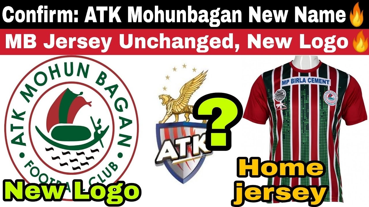 Official: ATK Mohunbagan Name🔥New Logo! MB Jersey Unchanged! World Class Academy in Bengal😯