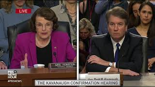Kavanaugh's record shows he's willing to disregard precedent, including on abortion, Feinstein says